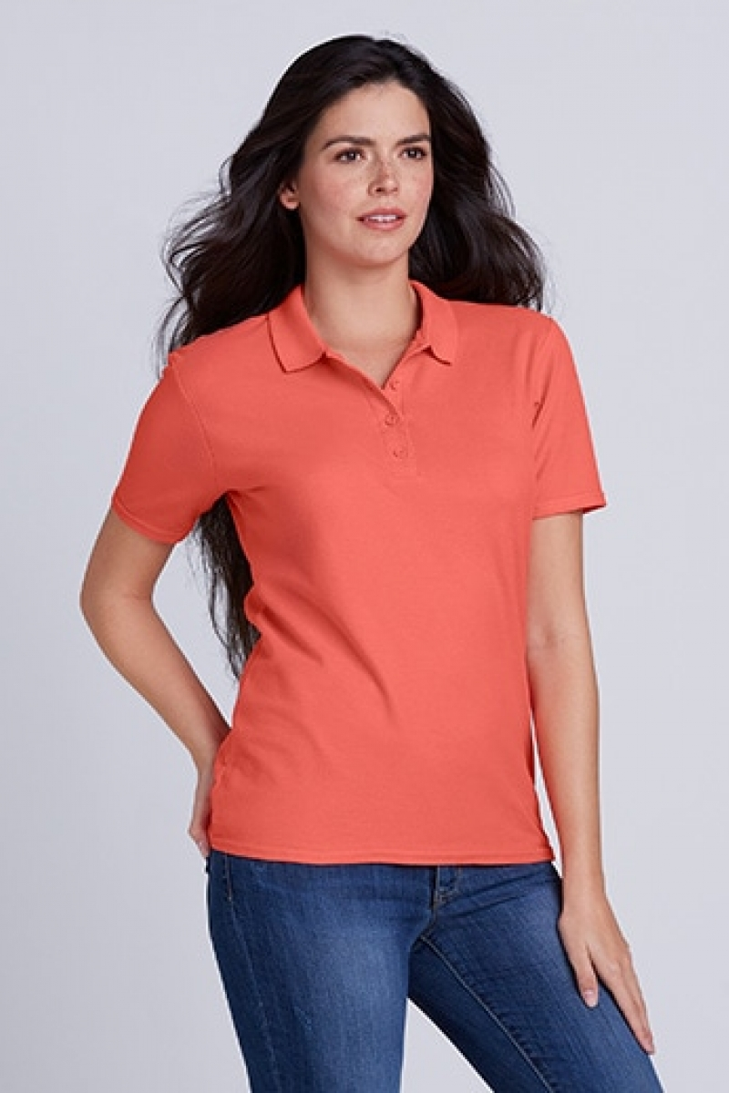 GIL64800 SOFTSTYLE® LADIES` DOUBLE PIQUE POLO