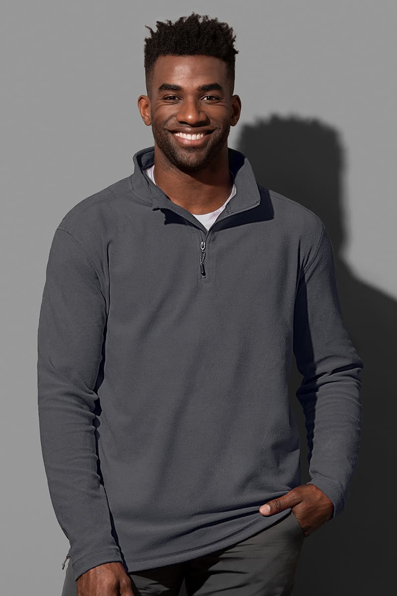 Active Fleece Half Zip Man